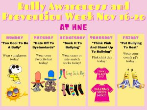 Bully Awareness and Prevention SPIRIT WEEK!