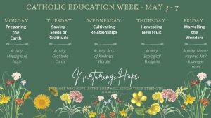Catholic Education Week May 3-7